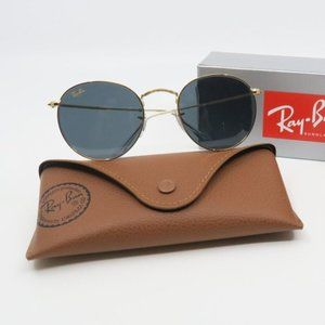 RB 3447 9196/R5 Ray-Ban Gold/ Gray Round Metal Sun